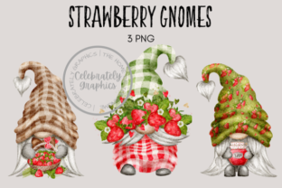 Strawberry Gnomes Watercolor Clipart Graphic Illustrations By Celebrately Graphics