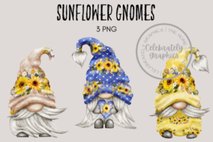 Sunflower Gnomes Graphic Illustrations By Celebrately Graphics