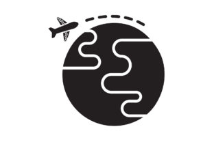 Travel Icon Black Filled Earth Design Graphic Icons By samanostudio