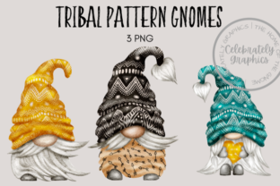 Tribal Pattern Gnomes Graphic Illustrations By Celebrately Graphics