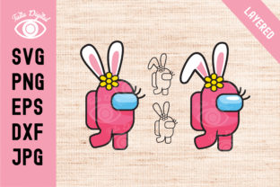 Two Cute Easter Among Us  Graphic Graphi Graphic Illustrations By Taita Digital