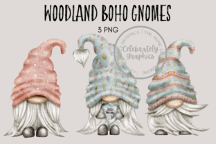 Woodland Boho Gnome Watercolor Clipart Graphic Illustrations By Celebrately Graphics
