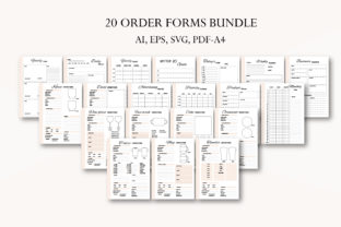 Order Form Bundle, Crafters Business Graphic Graphic Templates By Igraphic Studio