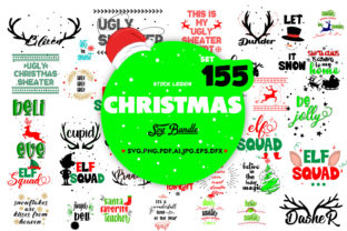 155 CHRISTMAS SVG BUNDLE Graphic Objects By sidd77