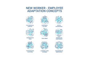 Print on Demand: Adaptation of New Worker Concept Icons Graphic Icons By bsd studio