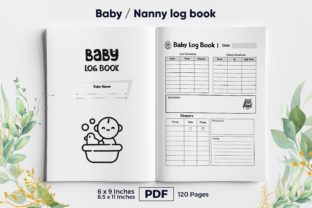 Print on Demand: Baby Logbook KDP Interior Graphic KDP Interiors By KdpKing