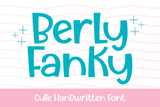 Print on Demand: Berly Fanky Display Font By Dreamink (7ntypes)