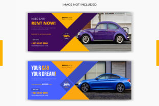 Print on Demand: Car Rent Sale Social Post Facebook Cover Graphic Graphic Templates By grgroup03