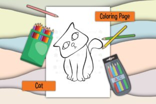 Print on Demand: Cats 05 Graphic Coloring Pages & Books Kids By 18CC