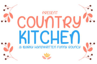 Print on Demand: Country Kitchen Display Font By edwar.sp111
