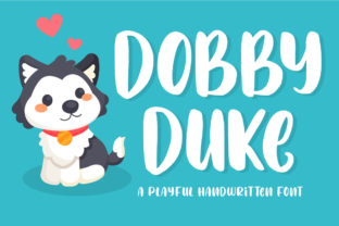 Print on Demand: Dobby Duke Display Font By FatmaStudio