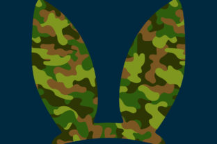 Print on Demand: Easter Bunny Ears Camouflage Sublimation Graphic Print Templates By expressyourself82