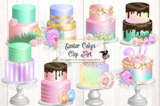 Print on Demand: Easter Cakes Clip Art Graphic Illustrations By Digital Curio