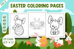 Easter Coloring Pages for Kids Graphic Coloring Pages & Books Kids By Vibgyor