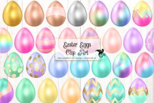 Print on Demand: Easter Eggs Clip Art Graphic Illustrations By Digital Curio