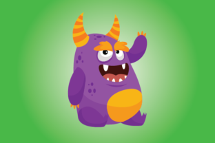 Funny Monster for Coloring Graphic Crafts By magicCreative