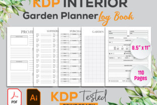 Garden Planner Log Book Kdp Interior Graphic KDP Interiors By GraphicTech360