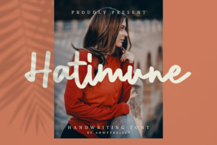 Print on Demand: Hatimune Script & Handwritten Font By ahweproject