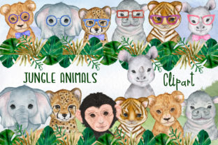 Print on Demand: Jungle Animals Safari Animals Grafik Illustrationen von vivastarkids