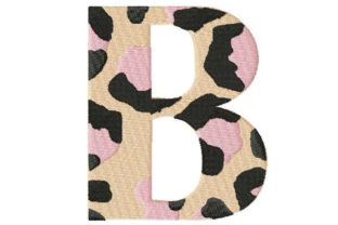 Leopard Monogram - B Fashion & Beauty Embroidery Design By Thread Treasures Embroidery