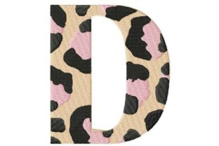 Leopard Monogram - D Fashion & Beauty Embroidery Design By Thread Treasures Embroidery