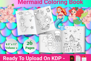Print on Demand: Mermaid Coloring Book - Volume 2 - KDP Graphic KDP Interiors By Creative Designer