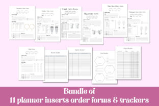 Order Forms and Trackers, Craft Shop Graphic Print Templates By Aneta Design