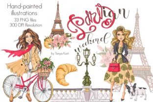 Parisian Weekend Clipart Graphic Illustrations By Tanya Kart