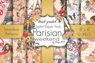 Parisian Weekend Pattern Graphic Patterns By Tanya Kart