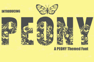 Print on Demand: Peony Display Font By KtwoP