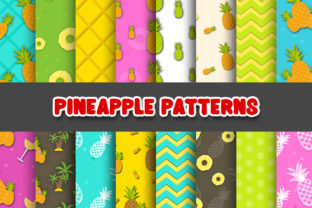 Print on Demand: Pineapple Digital Paper Patterns Graphic Patterns By Grafixeo