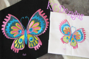 Pretty Butterflies 5 Bugs & Insects Embroidery Design By karen50