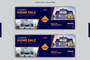 Print on Demand: Real Estate Facebook Cover Banner Design Graphic Web Templates By grgroup03