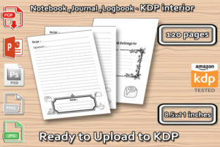 Recipes Book 2 - Cookbook Graphic KDP Interiors By ishop