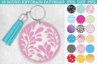 Round Keychain Pattern SVG Bundle Graphic Crafts By paperart.bymc