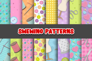 Print on Demand: Sewing Digital Papers Patterns Graphic Patterns By Grafixeo