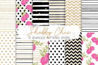 Print on Demand: Shabby Chic Seamless Patterns Graphic Patterns By MutchiDesign