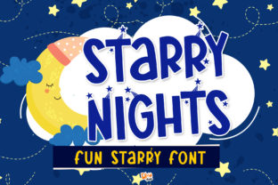 Print on Demand: Starry Nights Display Font By dmletter31 1