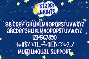 Print on Demand: Starry Nights Display Font By dmletter31 6