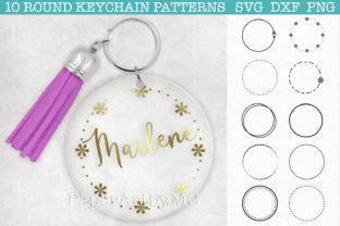 Stroke Round Keychain Pattern SVG Bundle Graphic Crafts By paperart.bymc