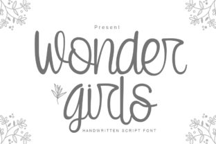 Print on Demand: Wonder Girls Script & Handwritten Font By jehansyah251