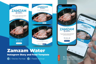 Print on Demand: Zamzam Water Promotion Ig Story Feed Graphic Graphic Templates By rivatxfz
