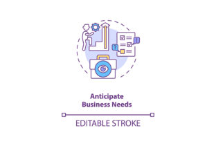 Print on Demand: Anticipate Business Needs Concept Icon Graphic Icons By bsd studio