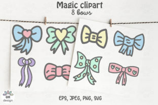 Print on Demand: Bows Clipart EPS, PNG, SVG Files. Graphic Illustrations By OK-Design