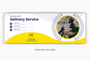 Delivery Service Facebook Cover Banner Graphic Web Templates By grgroup03