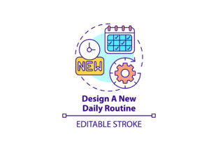 Print on Demand: Design New Daily Routine Concept Icon Graphic Add-ons By bsd studio