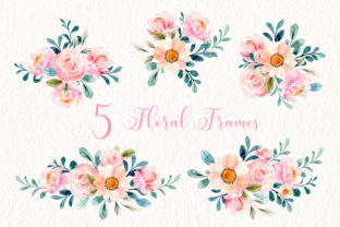 Print on Demand: Digital Clipart Floral Watercolor Part30 Graphic Illustrations By asrulaqroni