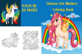 Dot Markers Unicorns Coloring Book Graphic Coloring Pages & Books Kids By Stock Designs