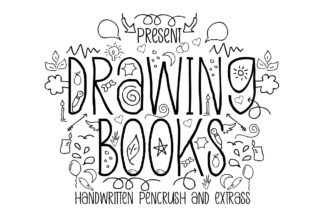 Print on Demand: Drawing Books Display Font By jehansyah251