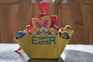Easter Bunny Basket Easter Embroidery Design By Carol Undy
